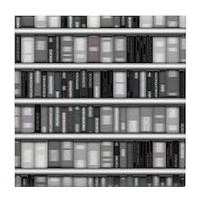 Modern Bookshelf Tile Coaster