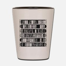 Modern Bookshelf Shot Glass