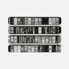 Modern Bookshelf Rectangle Magnet