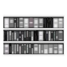 Modern Bookshelf Postcards (Package of 8)