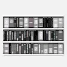 Modern Bookshelf Postcards (Package of 8)