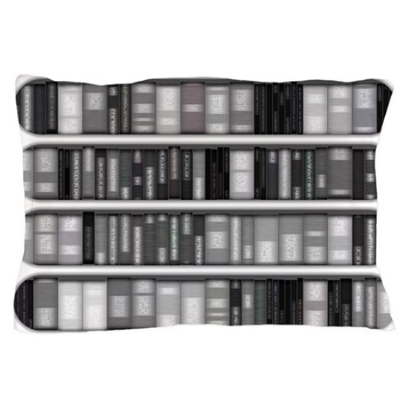 Modern Bookshelf Pillow Case