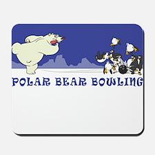 POLAR BEAR BOWLING Mousepad