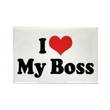 I Love My Boss Rectangle Magnet (10 pack)