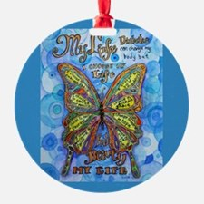 Diabetes Butterfly Ornament