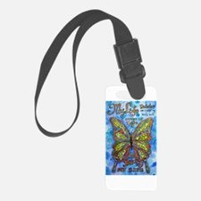 Diabetes Butterfly Luggage Tag