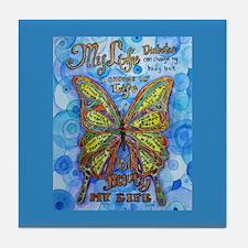 Diabetes Butterfly Tile Coaster