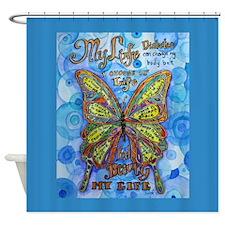 Diabetes Butterfly Shower Curtain