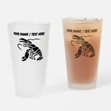 Personalized Black Lobster Drinking Glass