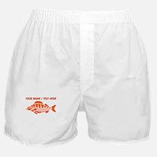 Personalized Orange Fish Boxer Shorts