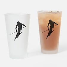 Downhill Skiing Drinking Glass