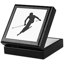 Downhill Skiing Keepsake Box