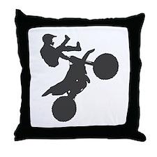 Motocross Motorcycle Tricks Throw Pillow