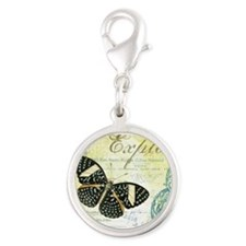Vintage French butterfly Charms