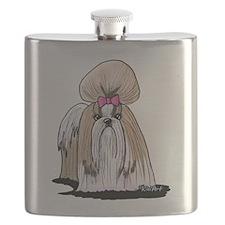 KiniArt Shih Tzu Show Girl Flask