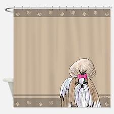 KiniArt Shih Tzu Show Girl Shower Curtain