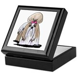 Shihtzu Square Keepsake Boxes