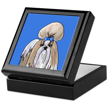 KiniArt Shih Tzu Blue Keepsake Box