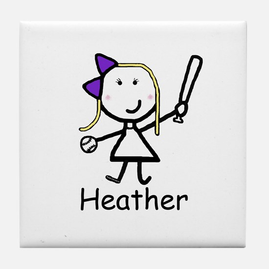Softball - Heather Tile Coaster