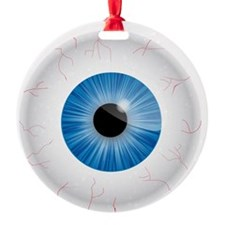 Bloodshot Blue Eyeball Ornament