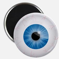 Bloodshot Blue Eyeball Magnet