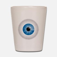 Bloodshot Blue Eyeball Shot Glass
