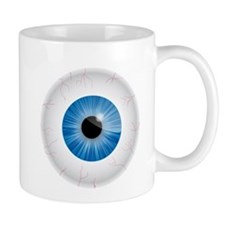 Bloodshot Blue Eyeball Small Mug