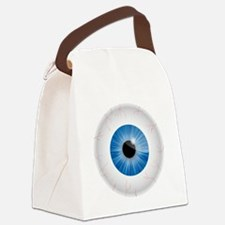 Bloodshot Blue Eyeball Canvas Lunch Bag