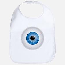 Bloodshot Blue Eyeball Bib