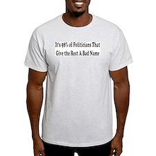 98% of Politicians Ash Grey T-Shirt