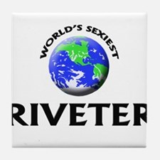 World's Sexiest Riveter Tile Coaster