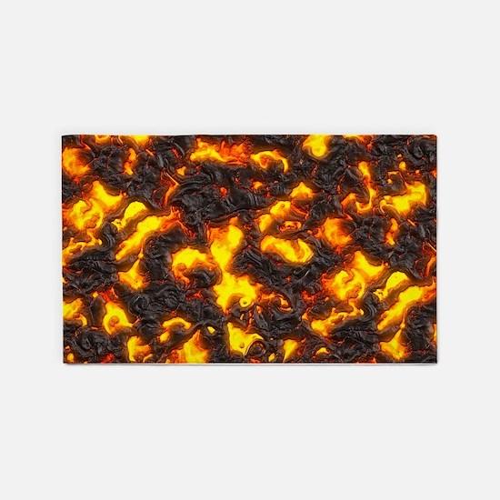 Hot Lava 3'x5' Area Rug