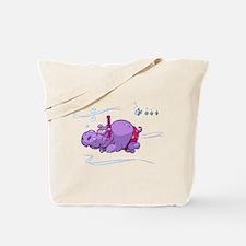 Snorkeling Hippo Tote Bag
