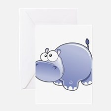 Happy Hippo Greeting Card