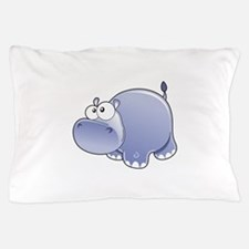 Happy Hippo Pillow Case