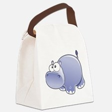 Happy Hippo Canvas Lunch Bag