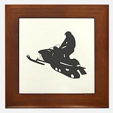 Snowmobile - Snowmobiling Framed Tile