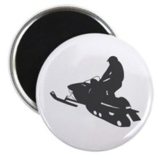 Snowmobile - Snowmobiling Magnet