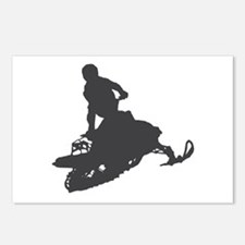 Snowmobile - Snowmobiling Postcards (Package of 8)