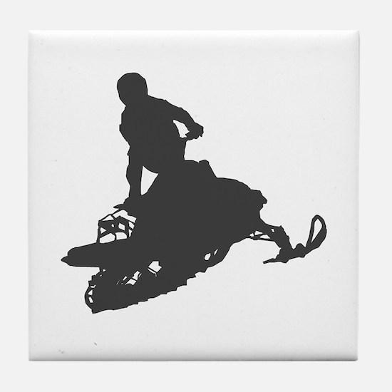 Snowmobile - Snowmobiling Tile Coaster