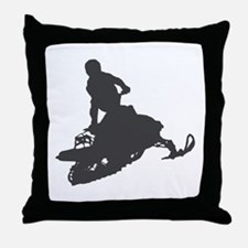 Snowmobile - Snowmobiling Throw Pillow