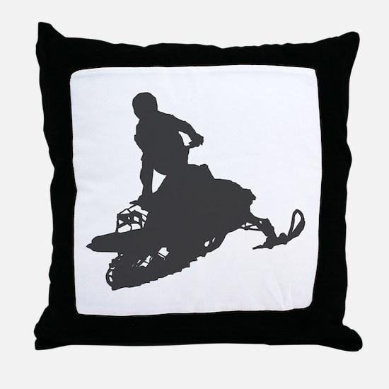 Snowmobile - Snowmobiling Throw Pillow