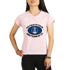 Proud Air Force Veteran Performance Dry T-Shirt