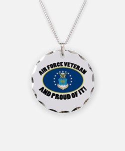 Proud Air Force Veteran Necklace