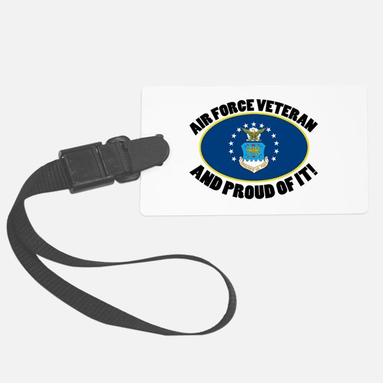 Proud Air Force Veteran Luggage Tag