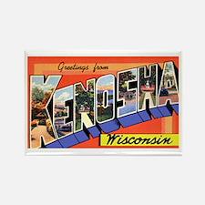 Kenosha Wisconsin Greetings Rectangle Magnet