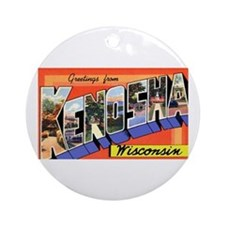 Kenosha Wisconsin Greetings Ornament (Round)