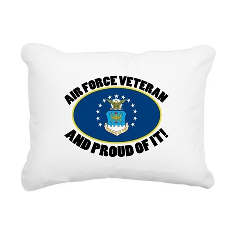 Proud Air Force Veteran Rectangular Canvas Pillow
