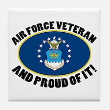 Proud Air Force Veteran Tile Coaster
