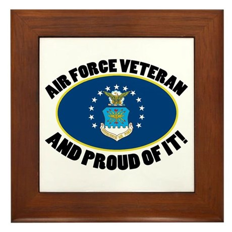 Proud Air Force Veteran Framed Tile